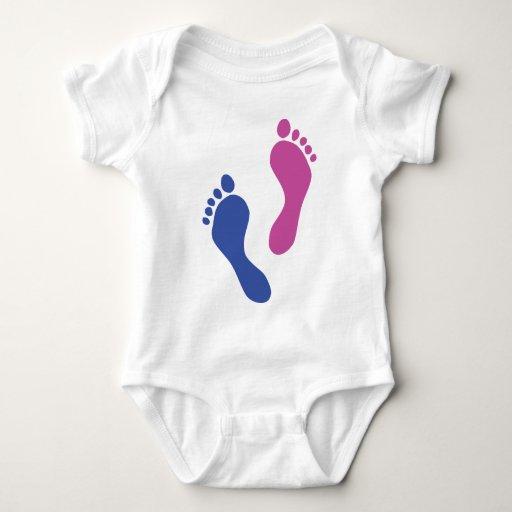 footprints colored t shirts