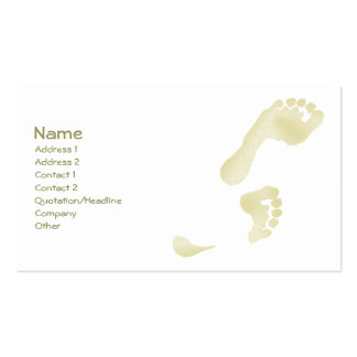 Footprints Double-Sided Standard Business Cards (Pack Of 100)