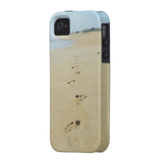 Footprints Down The Beach iPhone 4 Cases
