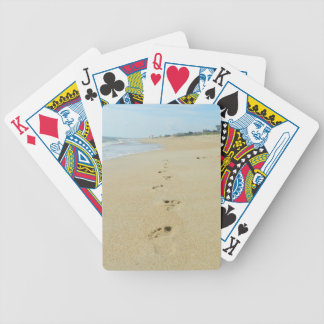 Footprints Down The Beach Deck Of Cards