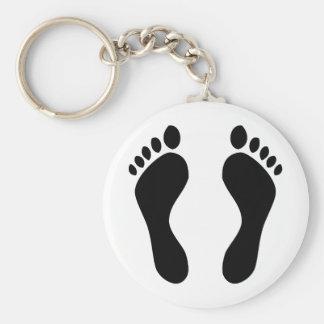 footprints feet key chains