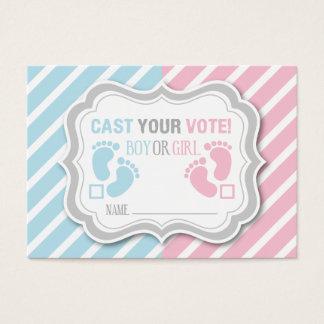 Footprints Gender Reveal Voting Card