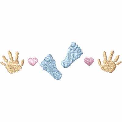 Footprints/ Handprints Embroidered Hoody