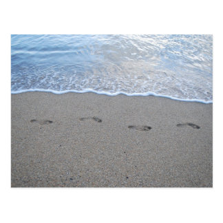 Footprints in Puerto Rico Postcard