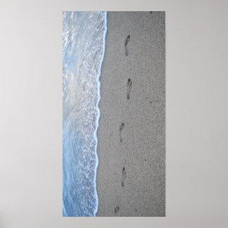 Footprints in Puerto Rico Print