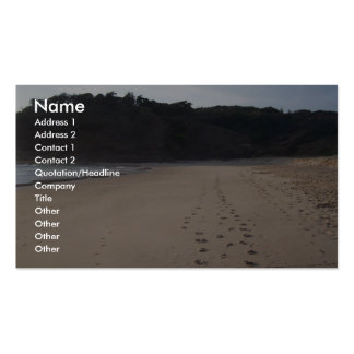 Footprints In Sand At Grassy Head Beach Business Card Template