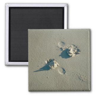 Footprints in Sand Magnet