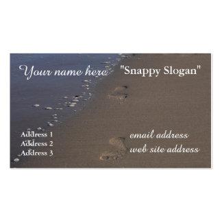 Footprints in Sand Ocean Shore Business Card