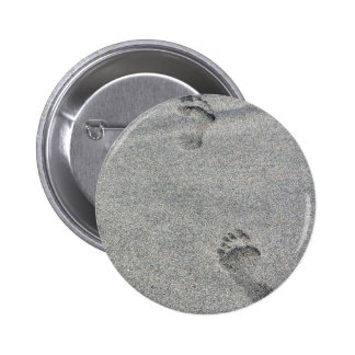 Footprints In Sand Pinback Button
