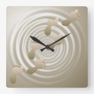 Footprints In Sand Wall Clock