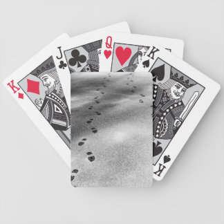Footprints in Snow Bicycle Playing Cards