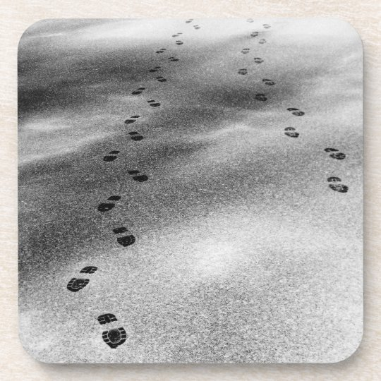 Footprints in Snow Drink Coaster