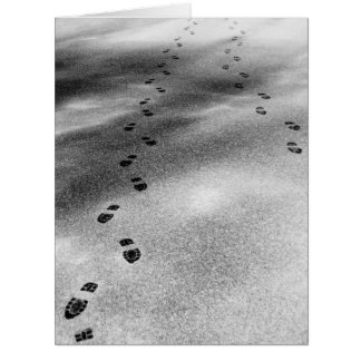 Footprints in Snow Greeting Cards