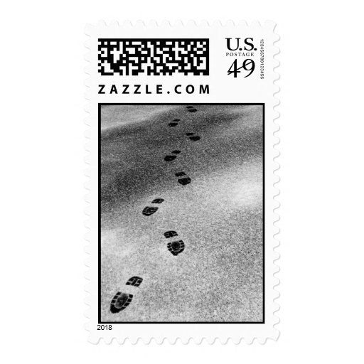 Footprints in Snow – Medium stamp