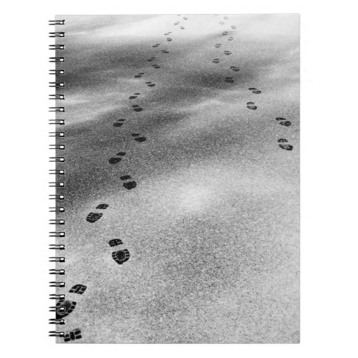 Footprints in Snow Notebook