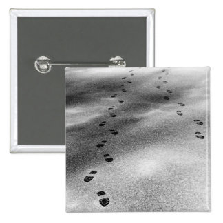 Footprints in Snow Pinback Button