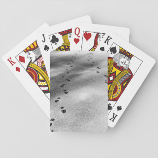 Footprints in Snow Playing Cards