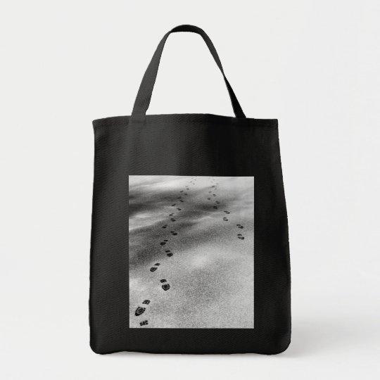 Footprints in Snow Tote Bag