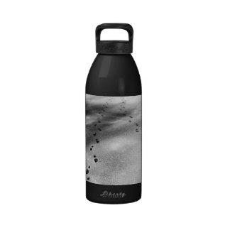 Footprints in Snow Water Bottles