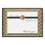 Footprints in the Sand Anniversary Thank You Greeting Card