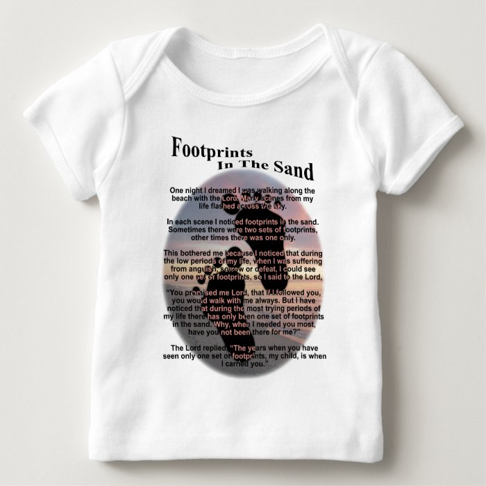 Footprints in the Sand... Baby T-Shirt
