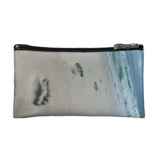 Footprints in the Sand - Beach - Cosmetics Bag