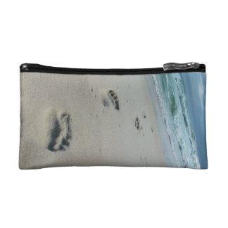 Footprints in the Sand - Beach - Cosmetics Bag