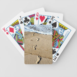 Footprints in the Sand Bicycle Playing Cards