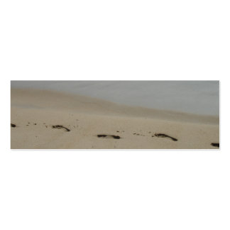 Footprints in the sand Bookmark Business Cards