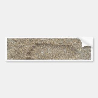 Footprints in the Sand Bumper Sticker