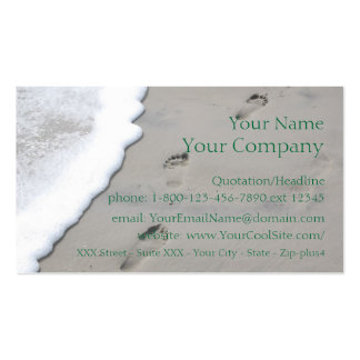 Footprints in the Sand - business card template