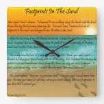 Footprints in the Sand Clock