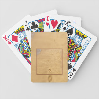 Footprints in the sand collage bicycle poker cards