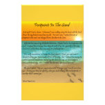 Footprints in the Sand Customized Stationery