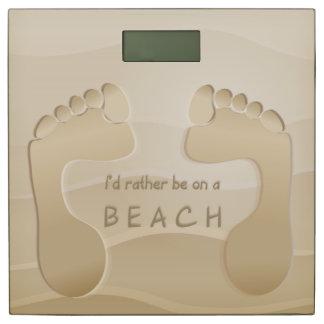 Footprints in the Sand Cute Bathroom Scale