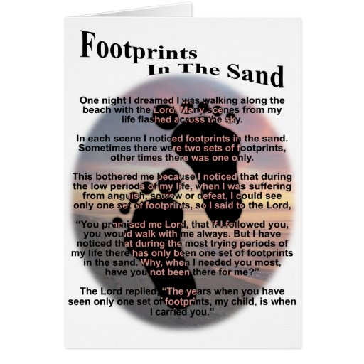 Footprints in the Sand... Greeting Card
