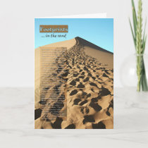 Footprints in the Sand Inspiration Card