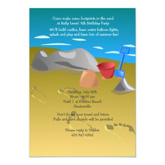 "Footprints in the Sand Invitation 5"" X 7"" Invitation Card"