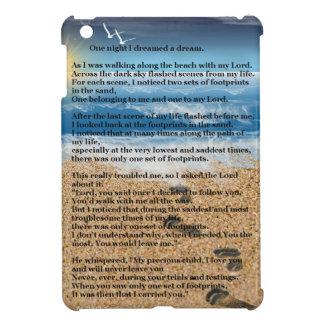 Footprints in the Sand iPad Mini Cover
