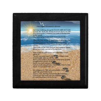 Footprints in the Sand Jewelry Box