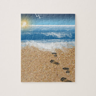 Footprints in the Sand Jigsaw Puzzle