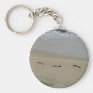 Footprints in the sand Keychain