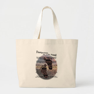 Footprints in the Sand Large Tote Bag