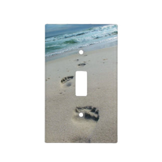 Footprints in the Sand - Light Switch Cover