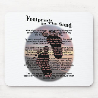 Footprints in the Sand Mouse Pad