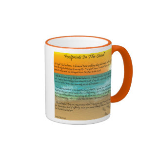 Footprints in the Sand Coffee Mugs