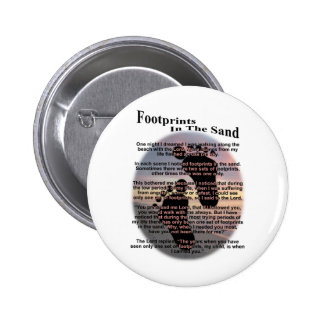 Footprints in the Sand... Pinback Button