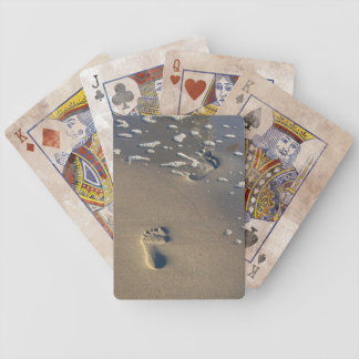 Footprints in the sand... Playing Cards