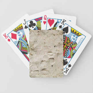 Footprints in the sand bicycle poker cards