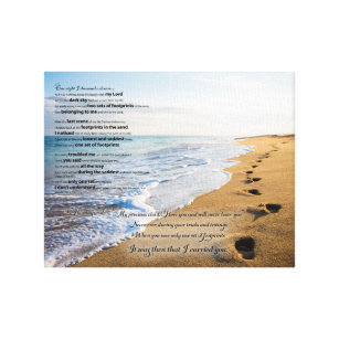 photograph about Footprints in the Sand Printable called Footprints Artwork Wall Décor Zazzle
